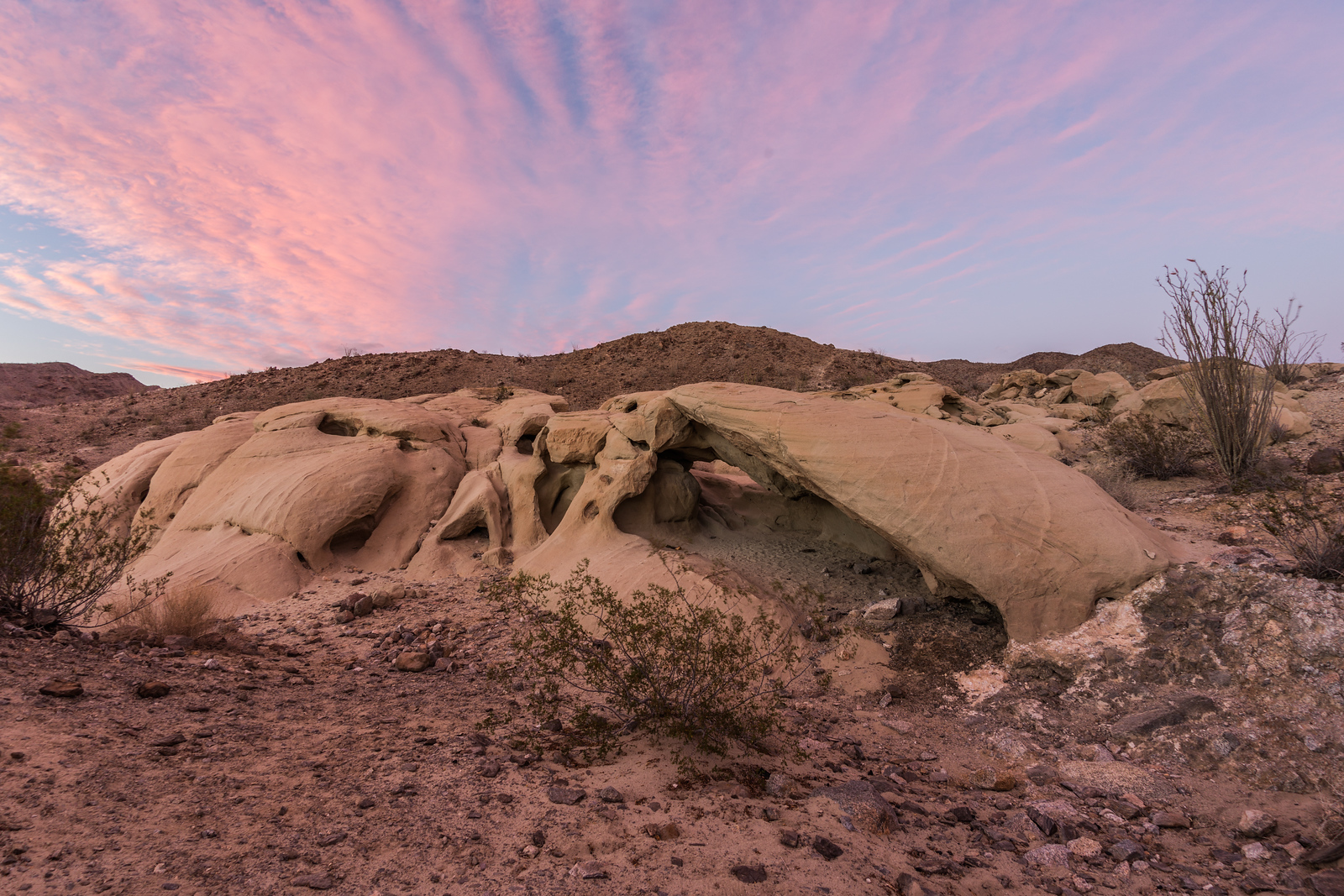 Sandstone Wind Caves in the Anza-Borrego Desert