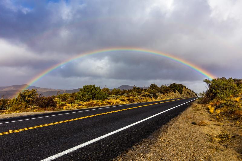 Rainbow over Highway 78 in the Anza-Borrego Desert