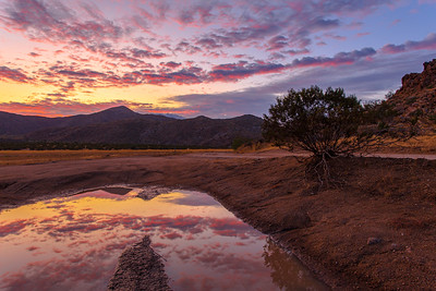 Reflection Sunset In The Anza-Borrego Desert