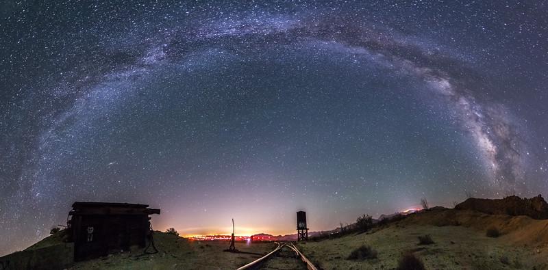 Vía Láctea Over Dos Cabezas