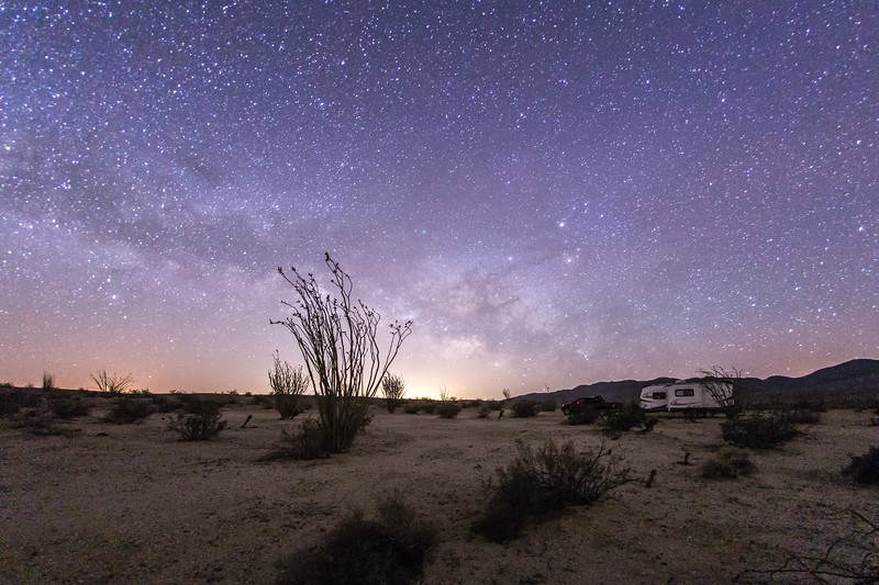Camping under the Milky Way in Anza-Borrego Desert State Park