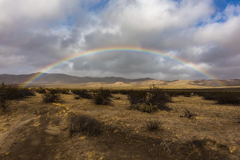 Rainbow Over the Anza-Borrego Desert