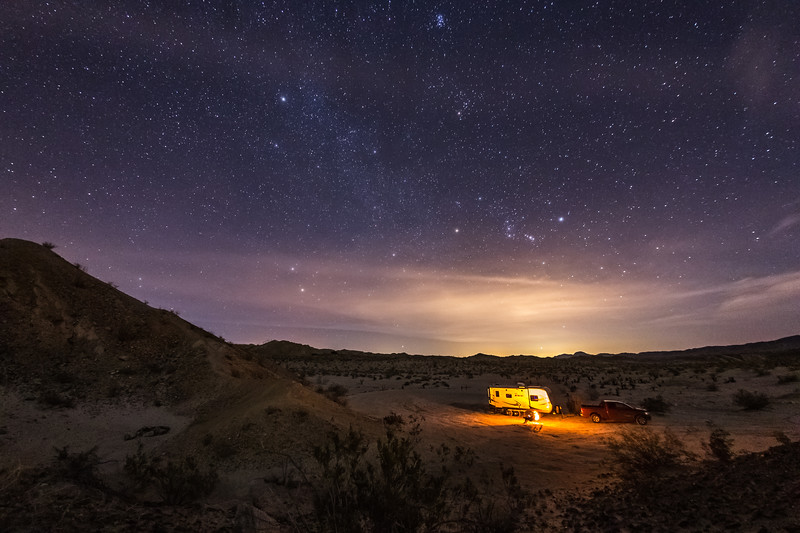 Another Night of Camping Under the Stars and Clouds in Anza-Borrego