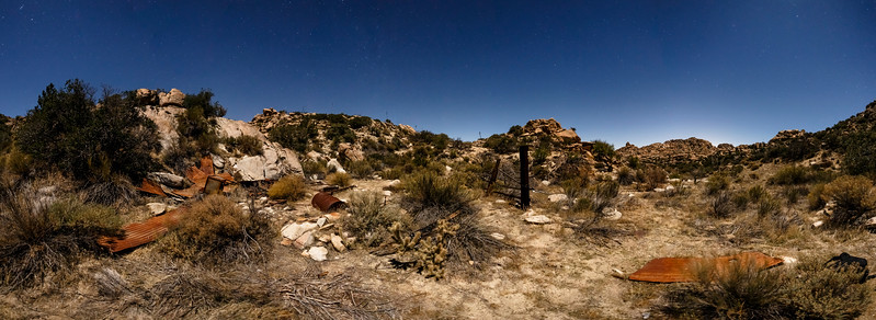 Panorama: What's Left Of An Old Cabin in Valley of the Moon