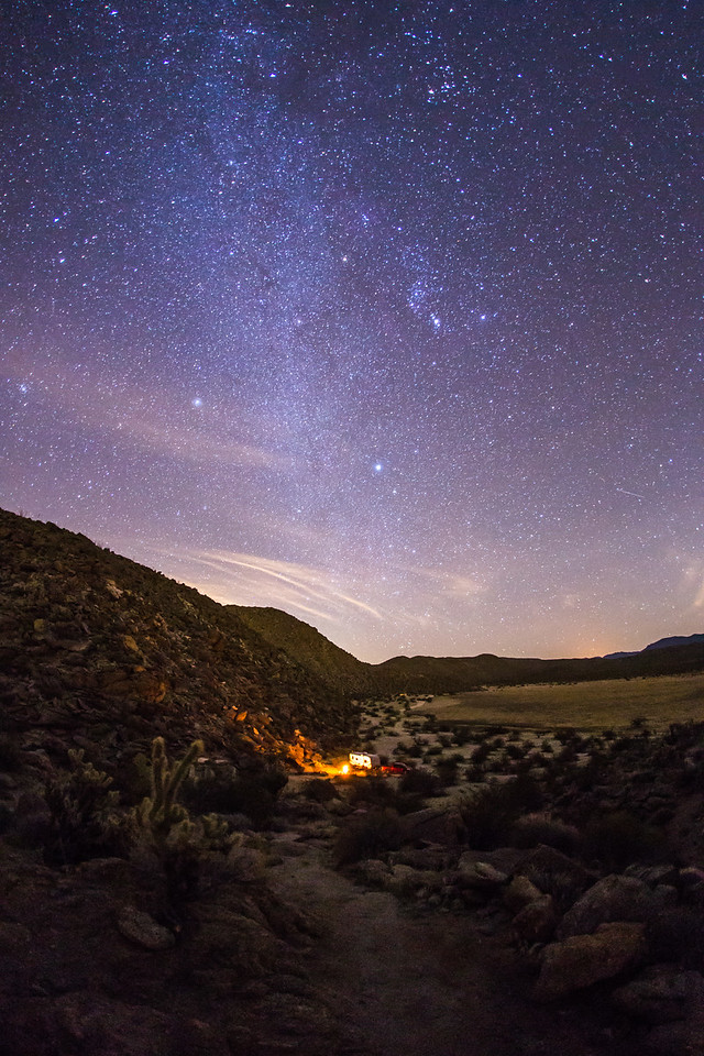 Camping in Blair Valley in Anza-Borrego Desert State Park