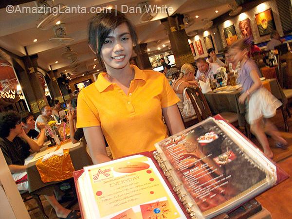 Restaurant, Ao Nang, Krabi, Thailand