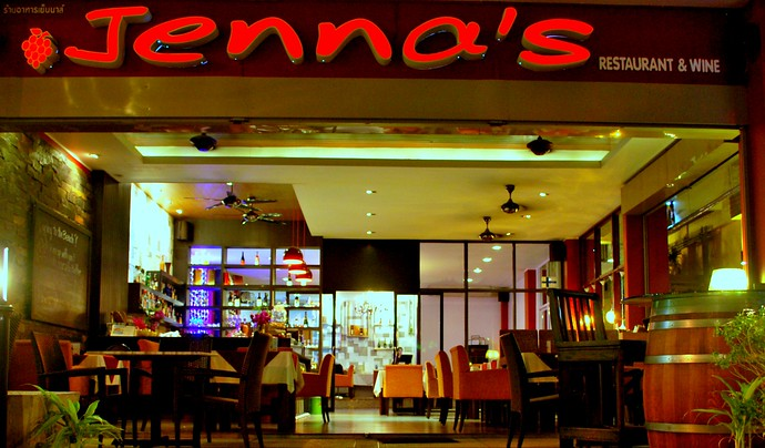 Jenna's bistro style restaurant located next to Starbucks, Ao Nang, Krabi, Thailand
