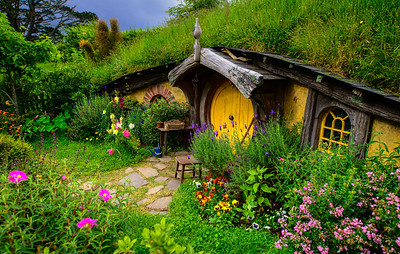 Colour at The Door Colours of Hobbiton Movie Set New Zealand