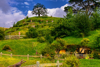 Midsummer Eve Hobbiton Movie Set Matamata New Zealand  This is an image I made last year on the longest day day in the Southern Hemisphere - 21 December. It was a day Hobbits always celebrated in The Shire (celebrated in June in the Northern Hemisphere).