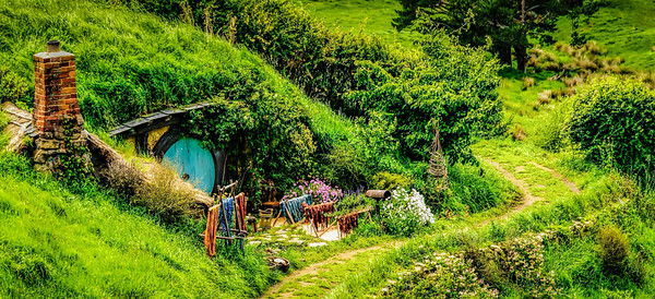 As we walked around the corner Hobbiton Movie Set Matamata New Zealand