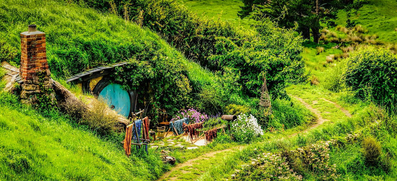 As we walked around the corner