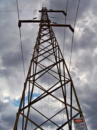 Historic power line near Canyon Lake (2009)