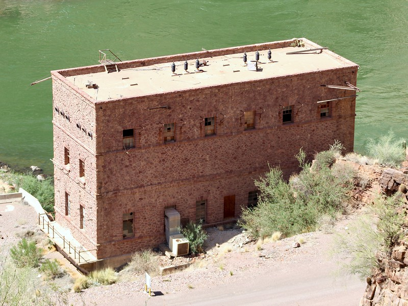 Historic building below Theodore Roosevelt Dam (2018)