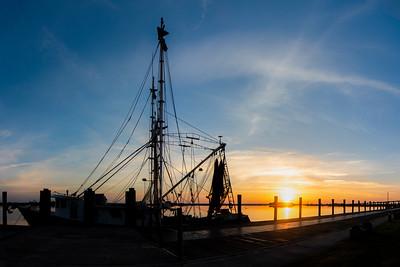 Apalachicola Boat at Sunrise