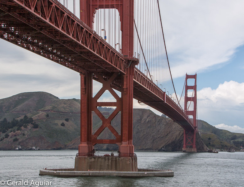 Another view of Golden Gate Bridge from the roof of Fort Point.