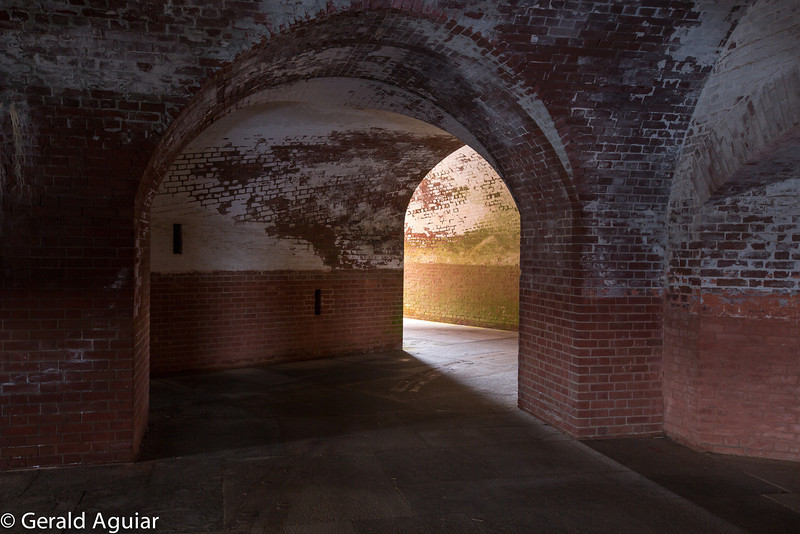 More arches on the second floor of Fort Point.