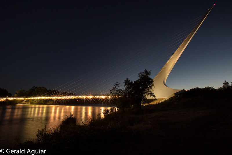 Sundial Bridge about 40 minutes after sunset on June 2, 2013.