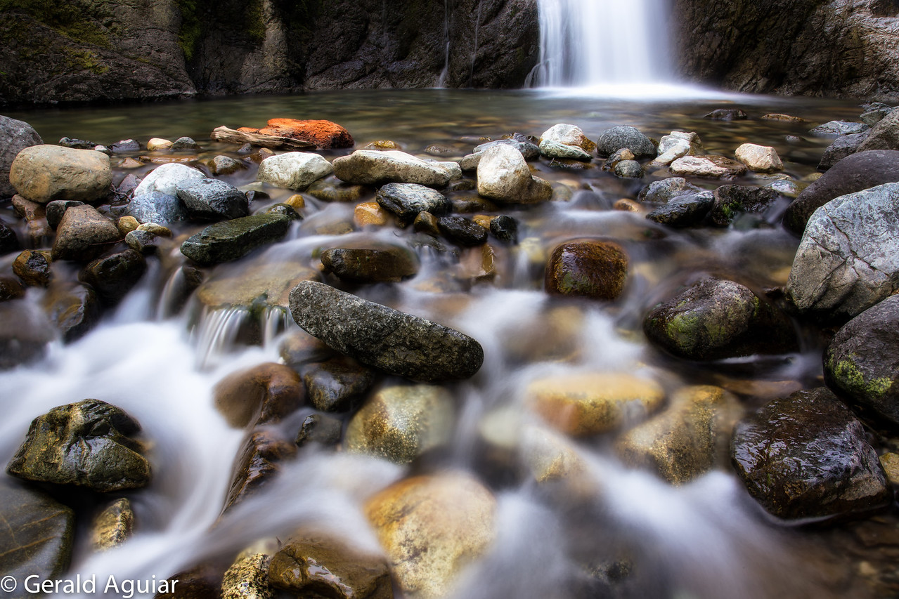 This stream and waterfall were located on the way to Castle Lake west of Mt. Shasta city.