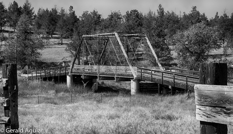 Black and white conversion of the same bridge.