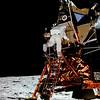 Aldrin Starts Down The Ladder