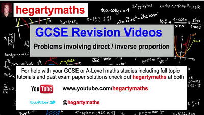 GCSE Maths Revision - Direct and Inverse proportion