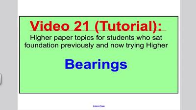 Bearings 1 (GCSE Higher Maths) Tutorial 21