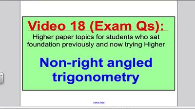 Sine and Cosine Rule 2 (GCSE Higher Maths) Exam Qs 18