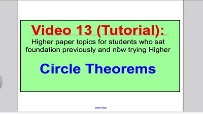 Circle Theorems GCSE Maths Higher PART 1