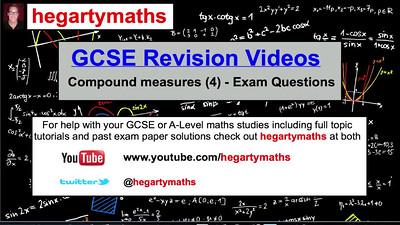 GCSE Maths Revision - Compound Measures (4) - Exam Questions