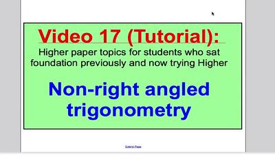 Sine and Cosine Rule 1 (GCSE Higher Maths) Tutorial 17