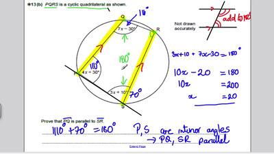 Circle Theorems 2 - Part 2 - (GCSE Higher Maths) Exam Qs 14