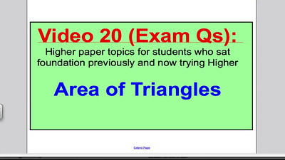 Area of Triangles 2 (GCSE Higher Maths) Exam Qs 20