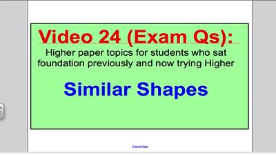 Similar shapes 2 (GCSE Higher Maths) Exam Qs 24
