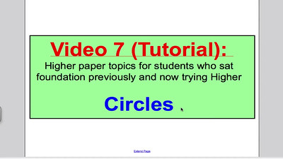 Circles 1 (GCSE Higher Maths) Tutorial 7
