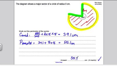 Circles 2 PART 2 (GCSE Higher Maths) Exam Qs 8