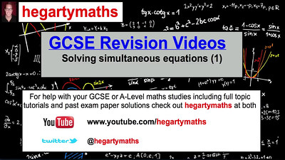 Solving simultaneous equations - GCSE Maths Revision