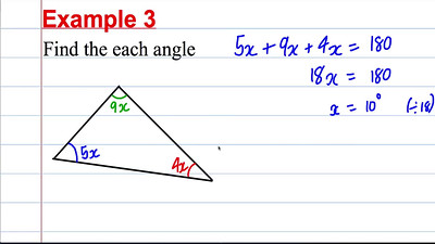 GCSE Maths Revision - Solving linear equations (3) from geometry questions - PART 2