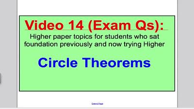 Circle Theorems 2 - Part 1 - (GCSE Higher Maths) Exam Qs 14