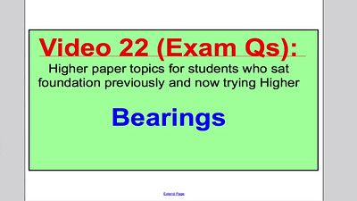Bearings 2 (GCSE Higher Maths) Exam Qs 22