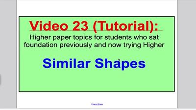 Similar shapes 1 (GCSE Higher Maths) Tutorial 23