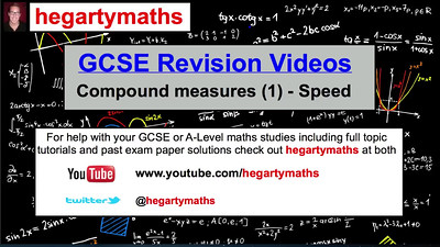 GCSE Maths Revision - Compound Measures (1) Speed