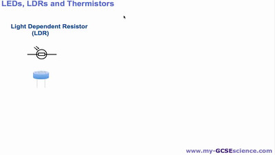 LDRs LEDs and Thermistors