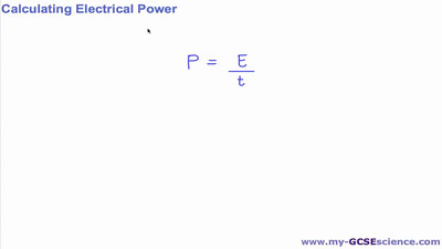 Calculating Electrical Power