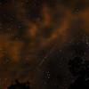Perseid meteor through clouds in western NC