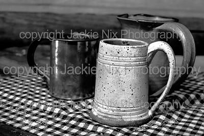 Mugs Still life BW