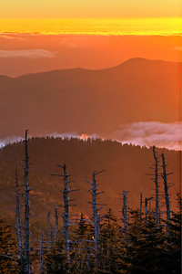 Sunrise from Clingman's Dome in Great Smoky Mountains National Park in the late fall season.  © Kyle Spradley Photography | www.kspradleyphoto.com