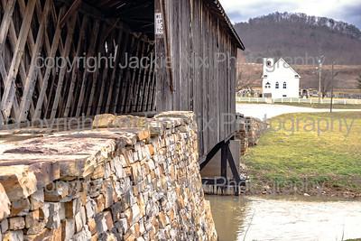 Goddard White Bridge with church in background