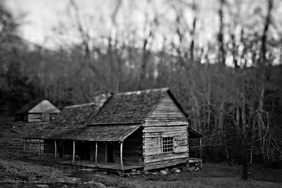 """Noah """"Bud"""" Ogle's cabin during the late fall season in Great Smoky Mountains National Park in Tennessee.  © Kyle Spradley Photography 