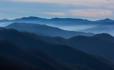 A view of Great Smoky Mountains National Park in western North Carolina.