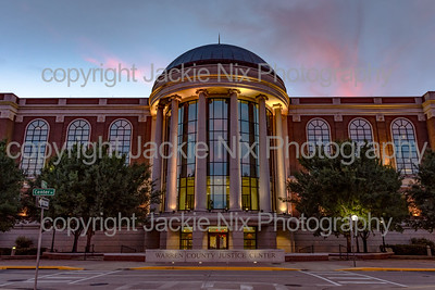 Warren County Justice Center at sunset